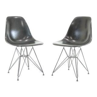 Herman Miller Eames Fiberglass Shell Chairs - A Pair