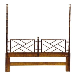 Vintage Chinese Chippendale Bed