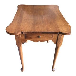 Ethan Allen Scalloped Edge Side Table
