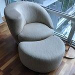 Image of Kagan Style Swivel Chairs & Ottoman - Set of 3