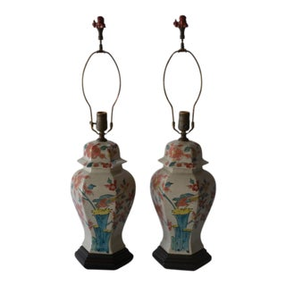 1930's Chinoiserie Lamps - A Pair