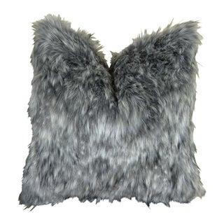 Gray Wolf Handmade Decorative Throw Pillow