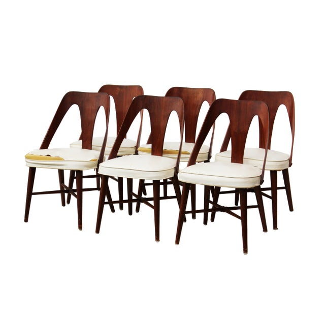 Mid Century Walnut Dining Chairs by Lawrence Peabody for Richard Nemschoff - Set of 6 - Image 5 of 6