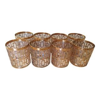 Imperial Glass Gold Shoji Double Rocks Glasses - Set of 8