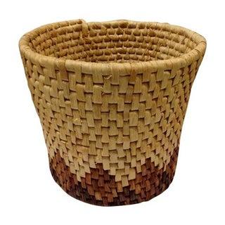 Mid-Century Woven Basket