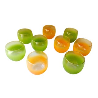 Blendo Roly Poly Orange and Lime Glasses - 9