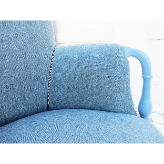 Black & White Mud Cloth Armchair - Image 5 of 5
