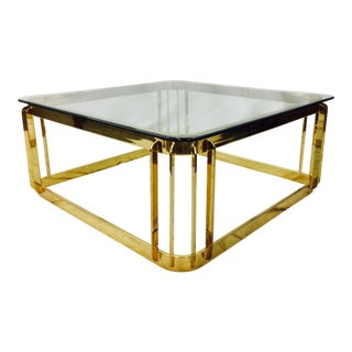 Modern Glam Polished Brass Coffee Table