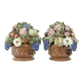 Antique French Sarreguemines Majolica Tureens - A Pair