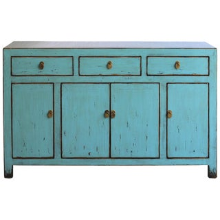 Contemporary Blue Dongbei Sideboard