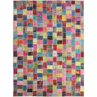 "Aara Rugs Inc. Hand Knotted Patchwork Kilim - 11'5"" X 8'4"""