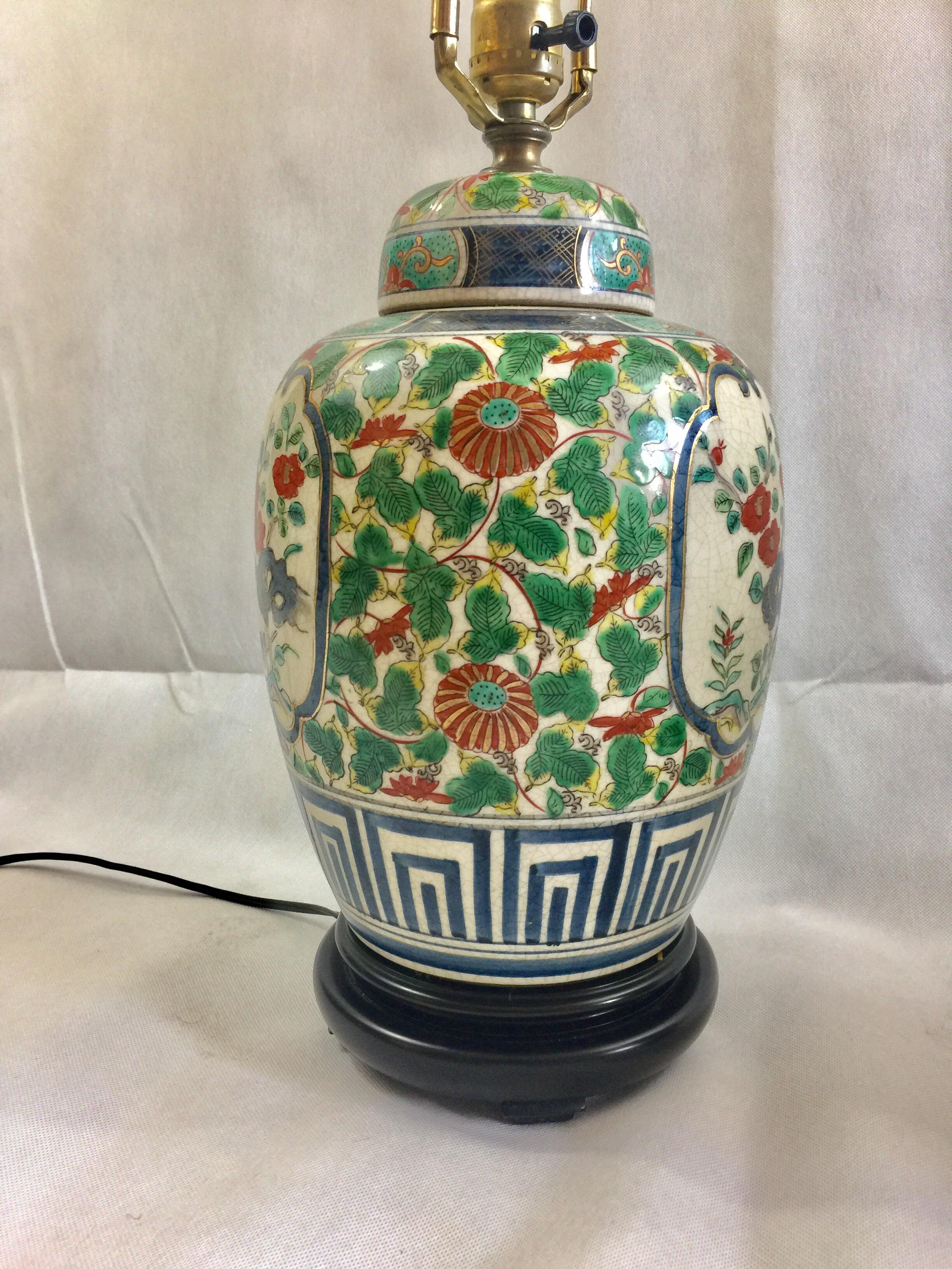 Vintage Porcelain Ginger Jar Table Lamps   A Pair   Image 5 Of 8