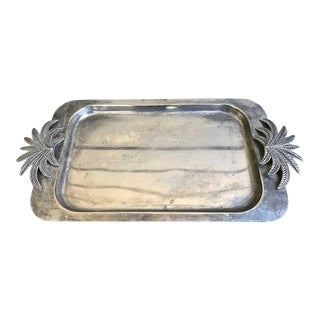Silver Palm Pewter Tray