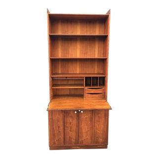 Kipp Stewart Drexel Mid-Century Secretary Bookcase