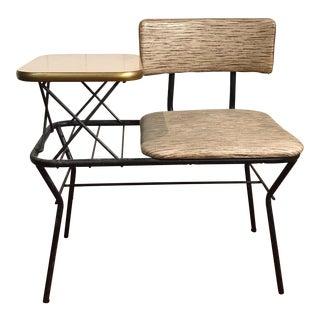 Vintage 1960s Mid-Century Modern Telephone Table