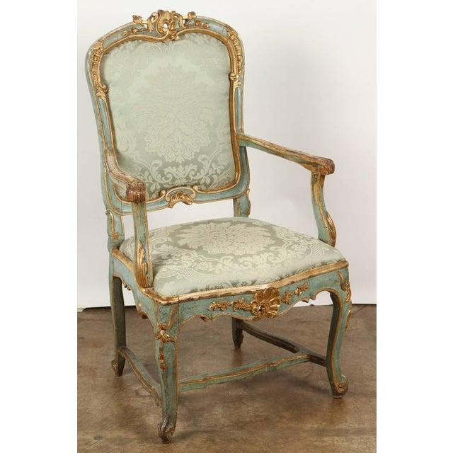Sophisticated Fine Venetian Rococo Arm Chair Decaso