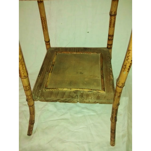 1890's Antique Bamboo Embroidery Table - Image 4 of 10