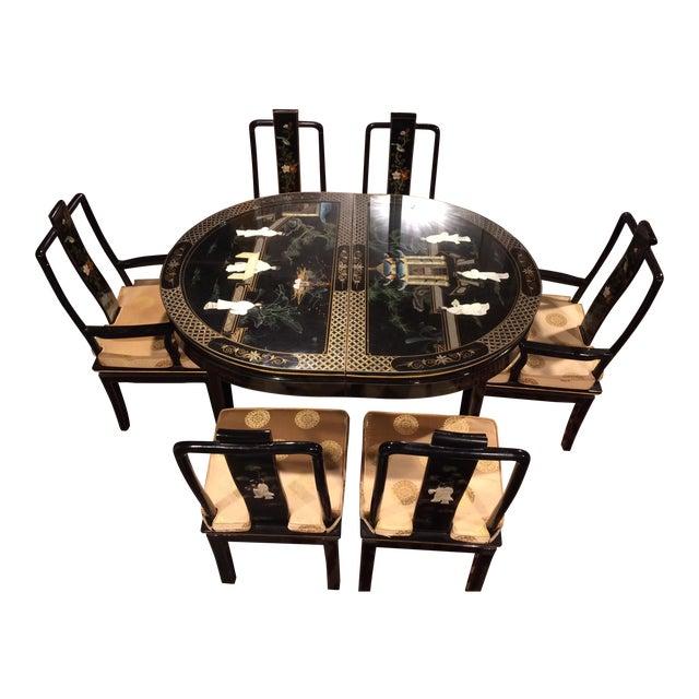 Vintage Asian Dining Room Set - Set of 7 - Image 1 of 11