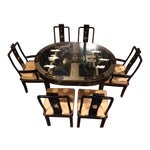 Image of Vintage Asian Dining Room Set - Set of 7