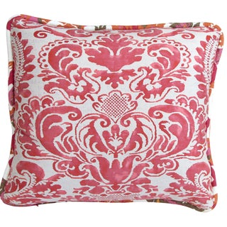 Red Fortuny Pillow