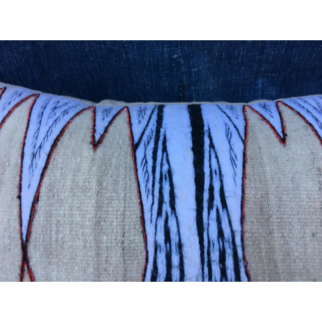 Antique Chieftain Tribal Cape Textile Pillow - Image 4 of 8