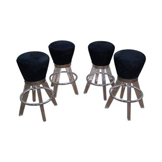H. Studio Lucite Gumdrop Bar Stools by Haziza -- Set of 4