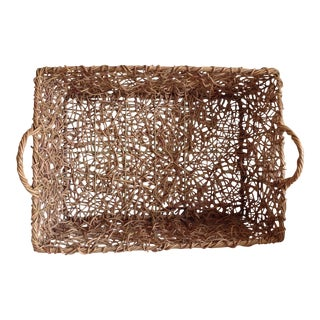 Natural Woven Twig Basket