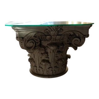 Corinthian Column Antique Original Side Table