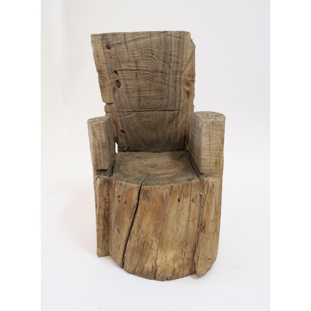 Childs Wood Stump Chair - Image 2 of 6