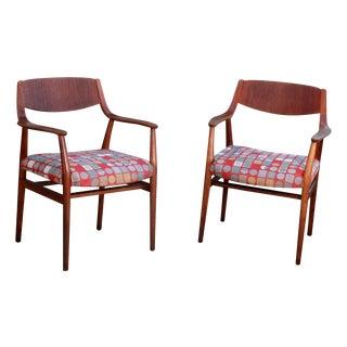 Vintage Danish Modern Teak Lounge Chairs - A Pair