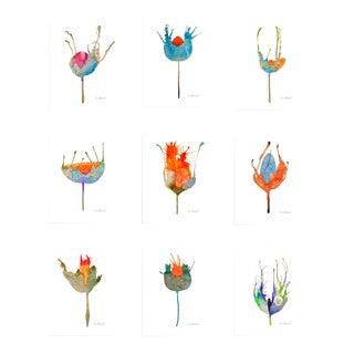 Premium Giclee Prints of Botanical Grouping Set of 9