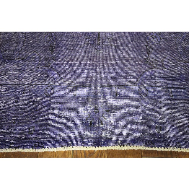 "Purple Overdyed Oriental Rug - 10' 1"" x 12' 1"" - Image 5 of 10"