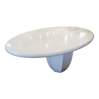 Custom Benjamin Noriega Ortiz White Oval Dining Table