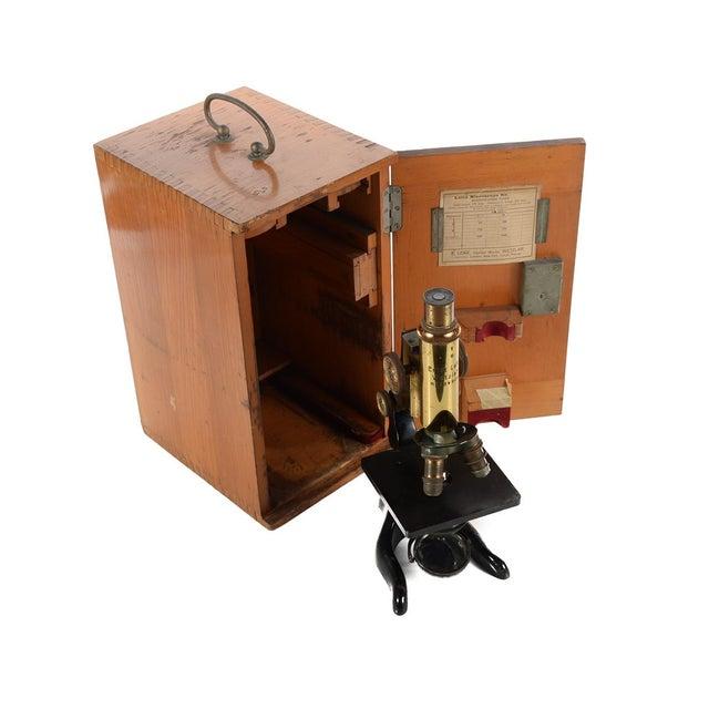 Ernst Leitz Wetzlar Antique Brass Microscope & Box - Image 1 of 9