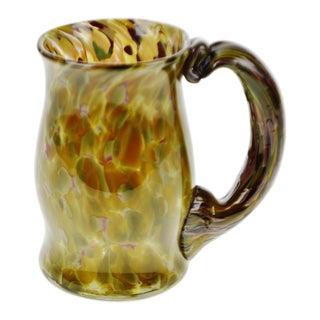 Hand-Blown Art Glass Mug