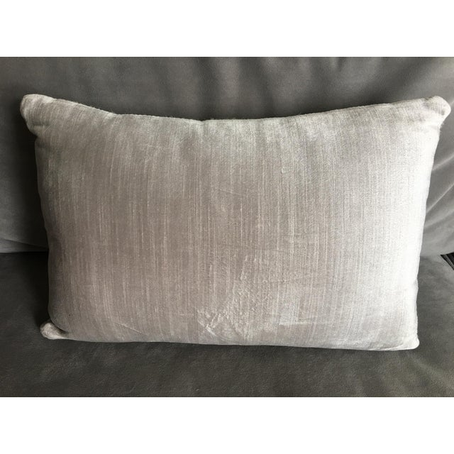 Image of Silver Cowhide Throw Pillow