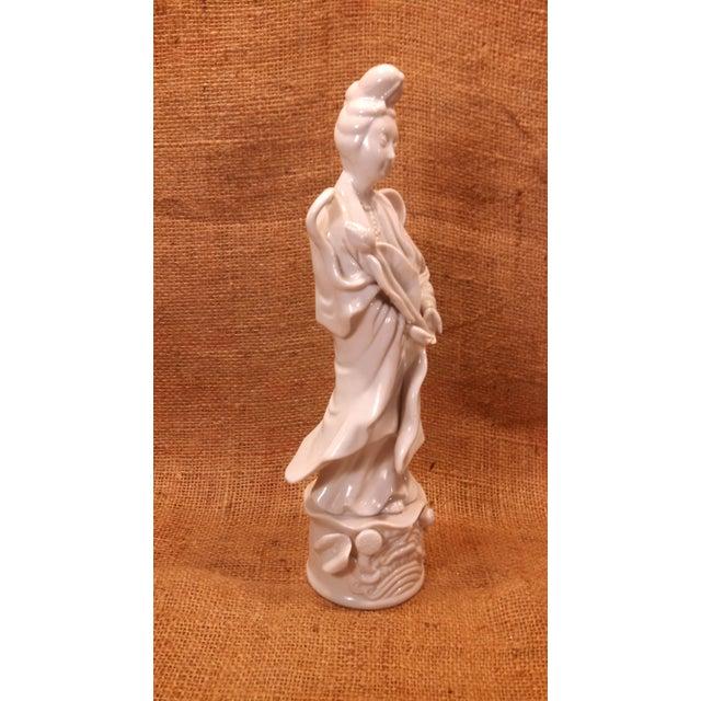 Image of Vintage Geisha Porcelain Statuette