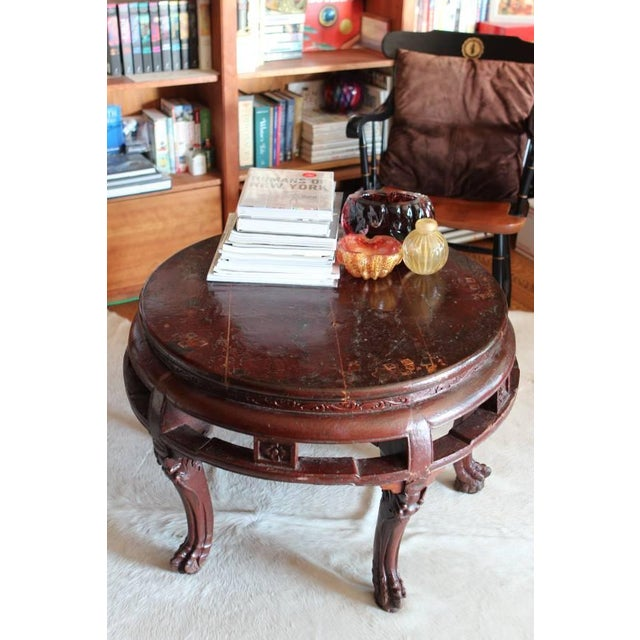 Antique Asian Claw Foot Coffee Table