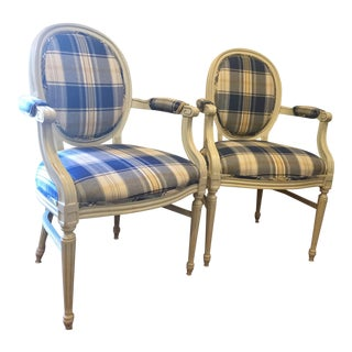Country French Accent Side Chairs - A Pair