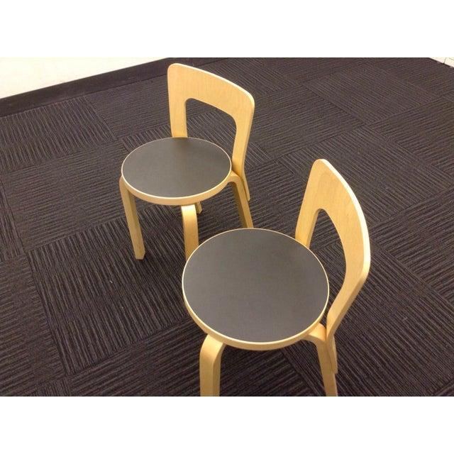 Artek Children's Chairs N65 - Pair - Image 3 of 5