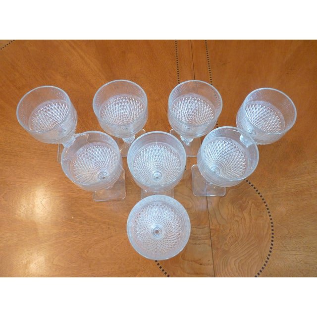 Pressed Glass Footed Goblets - Set of 8 - Image 4 of 8