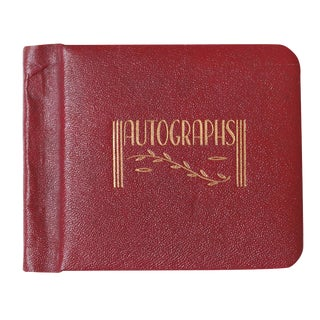 1947 Red Leather Autograph Book
