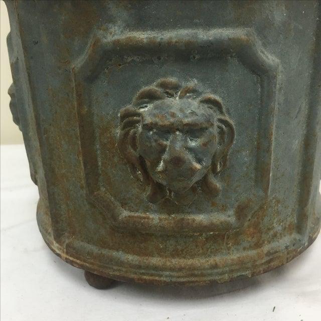 Cast Iron Lions Head Planter Chairish