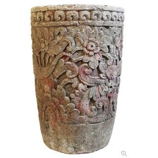 Stone Carved Garden Urn