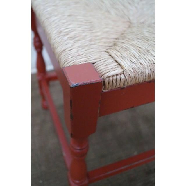 Image of Ballard Design Italian Painted Rush Seat Bench