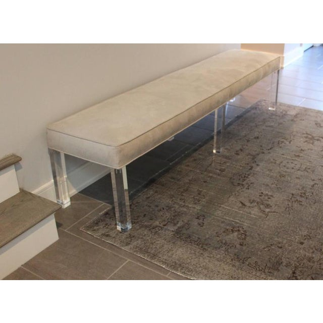 Long Lucite Bench - Image 3 of 4
