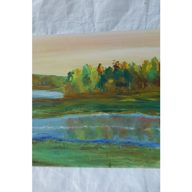 Tree Reflection Painting by H.L. Musgrave - Image 4 of 6