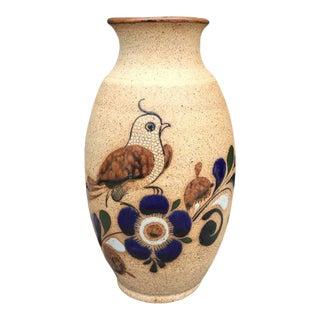 Hand Painted Bird Vase