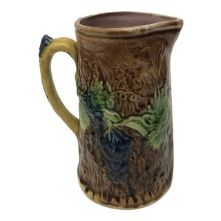 Antique English Majolica Pitcher