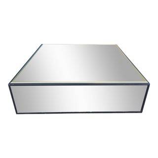 Milo Baughman Style Mirrored Floating Coffee Table